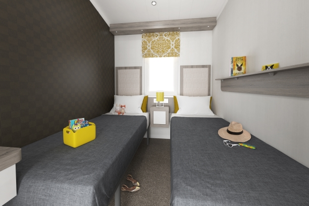 Sandycove - 2019 Swift Champagne Lodge Twin Bedroom