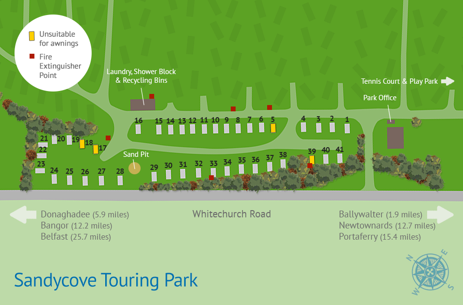 Sandycove Touring Map